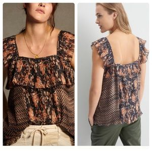 Anthropologie Olympia pintucked blouse